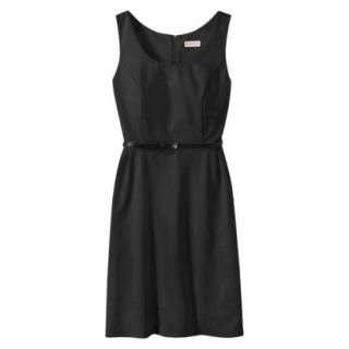Merona Petites Sleeveless Fitted Dress   Black XSP