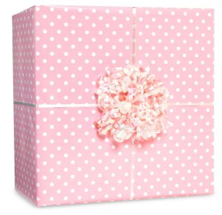 Pastel Pink Small Polka Dot Gift Wrap Kit