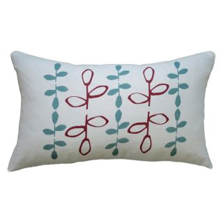 Balanced Design Hand Printed Branch Linen Pillow   LBRA4