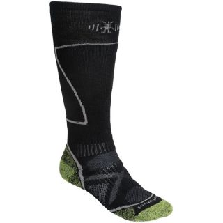 SmartWool PhD Ski Socks   Merino Wool (For Men and Women)   GRASSHOPPER (L )