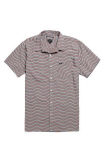 Mens Rvca Shirt   Rvca Sin Wave Short Sleeve Woven Shirt