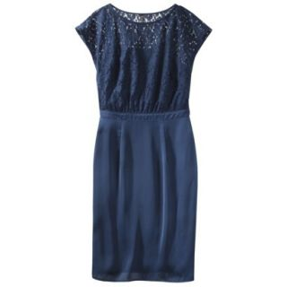 TEVOLIO Womens Lace Bodice Dress   Office Blue   8