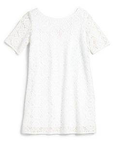 Lilly Pulitzer Kids Toddlers & Little Girls Little Topanga Crochet Dress   Whi