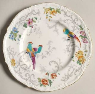 Royal Cauldon Marlborough Multicolor Salad Plate, Fine China Dinnerware   Multic