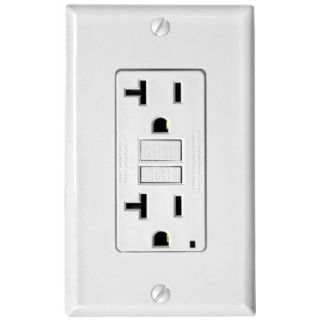 Leviton T78993W Electrical Outlet, 15A TamperResistant, Commercial Grade SmartLock Pro Duplex Receptacle White (3 Pack)