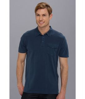 Lucky Brand Pacific Polo Mens Short Sleeve Pullover (Navy)