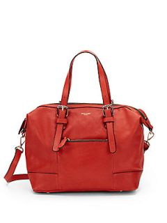 Top Zip Leather Satchel