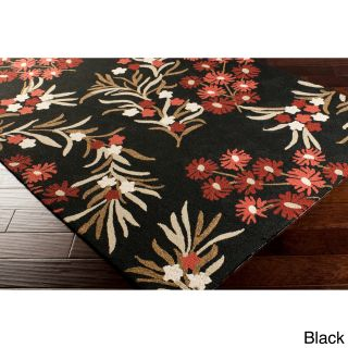 Hand hooked Paule Marrot Cannes Floral Indoor/outdoor Area Rug (8 X 10)