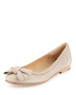 Esther Bow Nubuck Leather Ballet Flat, Cement