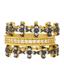 Floral Prong Set Stackable CZ Rings, Size 6