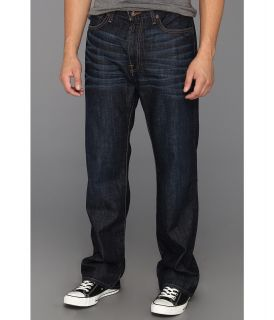 Lucky Brand 181 Relaxed Straight 32.5 in Dark Dickson Mens Jeans (Black)