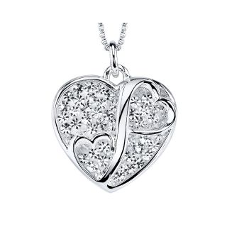 Love Grows Crystal Two Hearts Meet Pendant, Womens