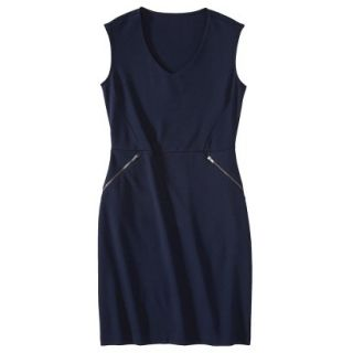 Mossimo Womens Ponte Sleeveless Dress w/ Zippered Pockets   Xavier Navy L