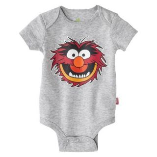 Disney Newborn Boys Animal Bodysuit   Grey 0 3 M