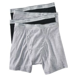 Fruit of the Loom Mens Boxer Briefs 4 Pack   Black/Grey L