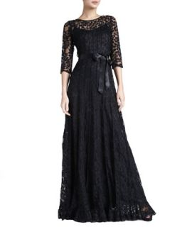 Womens Floral Lace Gown   Rickie Freeman for Teri Jon
