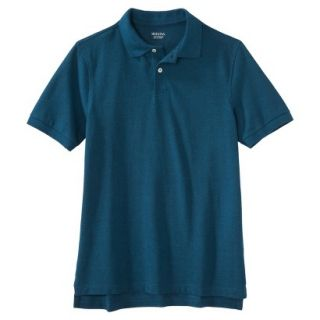 Mens Classic Fit Polo Shirt Atlantis blue turquoise S