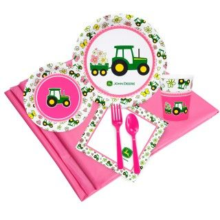 John Deere Pink Just Because Party Pack for 8