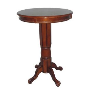 Pub Table Boraam Industries Florence Pedestal Pub Table   Brandy