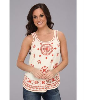 Lucky Brand Pacifica Embroidered Tank Womens Sleeveless (Multi)
