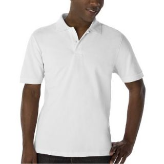 Mens Classic Fit Polo Shirt White M