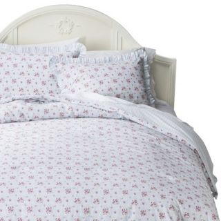 Simply Shabby Chic Window Box Floral Comforter Set   Blue (Full/Queen)