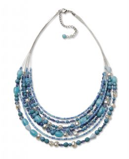 Blue bead Multilayer Necklace