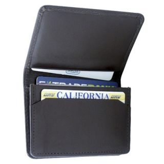 Leatherbay Flip Top Leather Wallet   Dark Brown