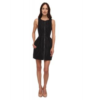 tibi Silk Faille Sleeveless Dress Womens Dress (Black)