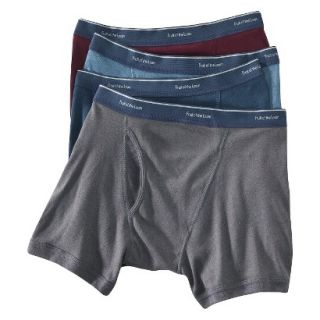 Fruit of the Loom Mens Low Rise Boxer Briefs 4 Pack   Assorted Colors XL