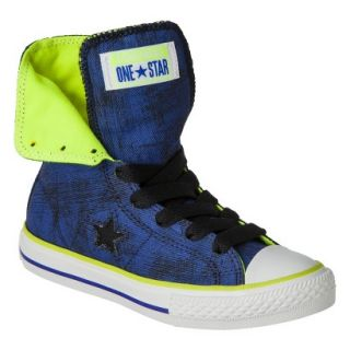 Boys Converse One Star High Top Sneaker   Navy 6
