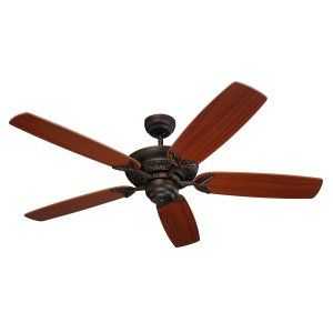 Monte Carlo MON 5MS52RB Roman Bronze Mansion 52 5 Blade Mahogany Ceiling Fan