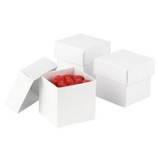 White Mix & Match Favor Boxes   25ct
