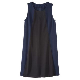 Mossimo Womens Colorblock Shift Dress   Xavier Navy/Black XS