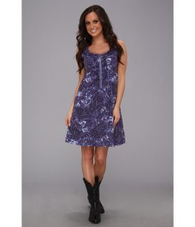 Stetson 9001 Peri Paisley Print Sleeveless Dress Womens Dress (Purple)
