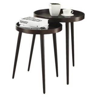 Accent Table Monarch Specialties Nesting Table 2 Piece Set   Brown