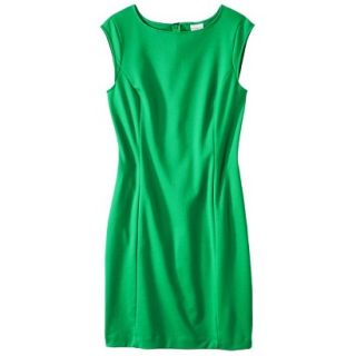 Merona Womens Ponte Sheath Dress   Mahal Green   XS