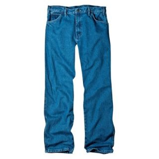 Dickies Mens Relaxed Fit Jean   Stone Washed Blue 36x34