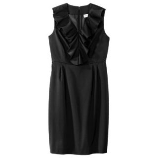Merona Petites Sleeveless Sheath Dress   Black 14P