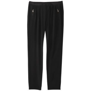 Mossimo Womens Drapey Pleat Pant   Black 2