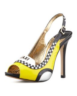 Womens le taxi slingback pump, taxi yellow   kate spade new york