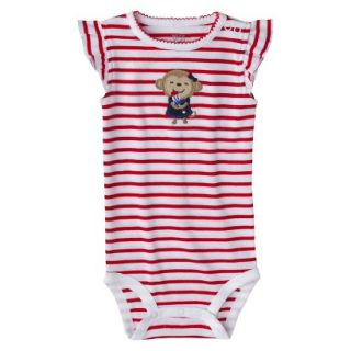 Just One YouMade by Carters Newborn Girls Striped Bodysuit   Red/White 6 M