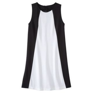 Mossimo Womens Colorblock Shift Dress   Black/Fresh White L