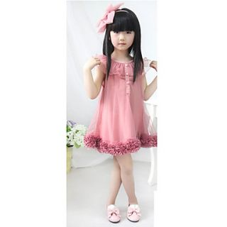 New Cute Kids Girls Chiffon Flowers Hem Lace Princess Tutu Dress Casual Or Party