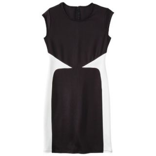 Mossimo Womens Colorblock Scuba Dress   Black XS