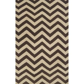 Chevron Flat Weave Area Rug   Brown (8x11)