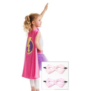 Little Adventures Girl Hero Cape w/ Power Hot Pink/Pale Pink Mask