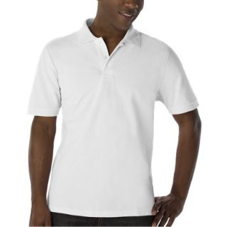 Mens Classic Fit Polo Shirt White XXL