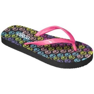 Girls Circo Hester Flip Flop Sandals   Pink/Black XL