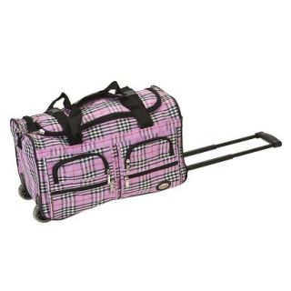 Rockland Rolling Duffel Bag   Pink Cross (22)